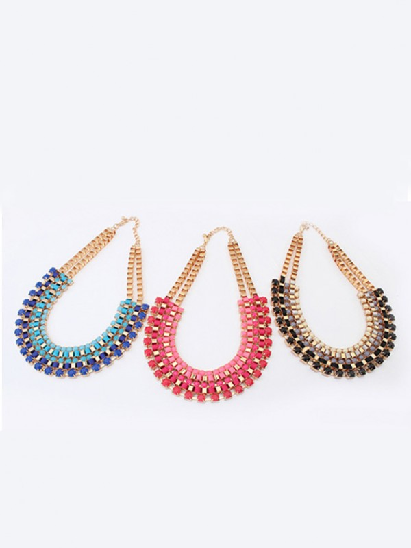 Occident Chic Retro multi-layeRouge all-match Vente chaude Colliers