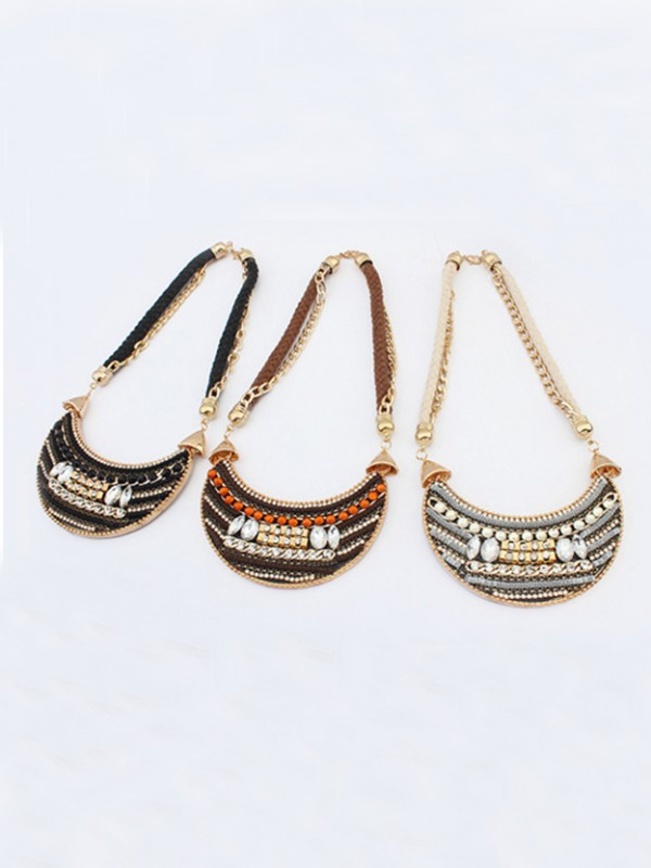Occident Exotic woven Retro Vente chaude Colliers