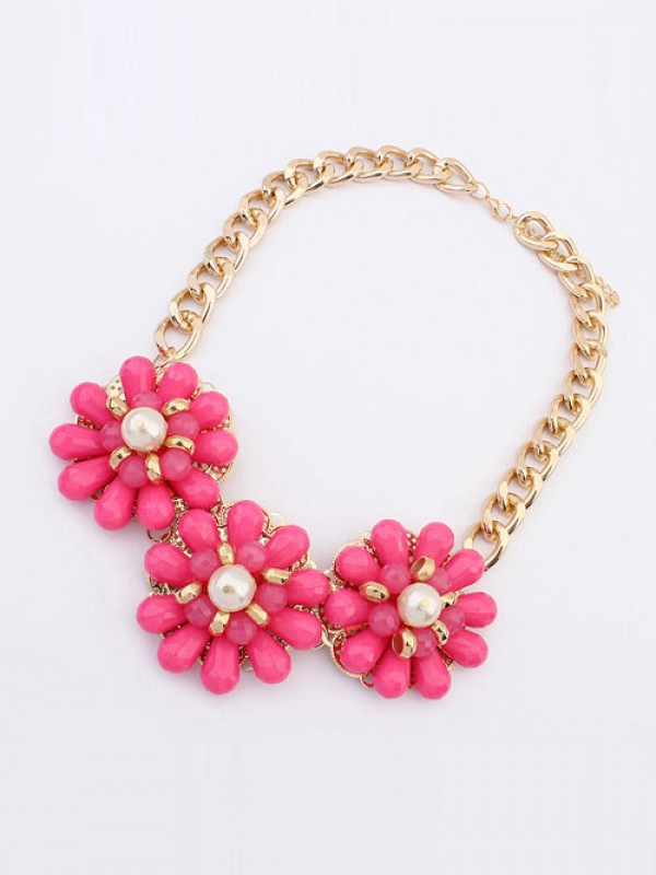 Occident Candy colors Fresh Big Fleurs Vente chaude Colliers