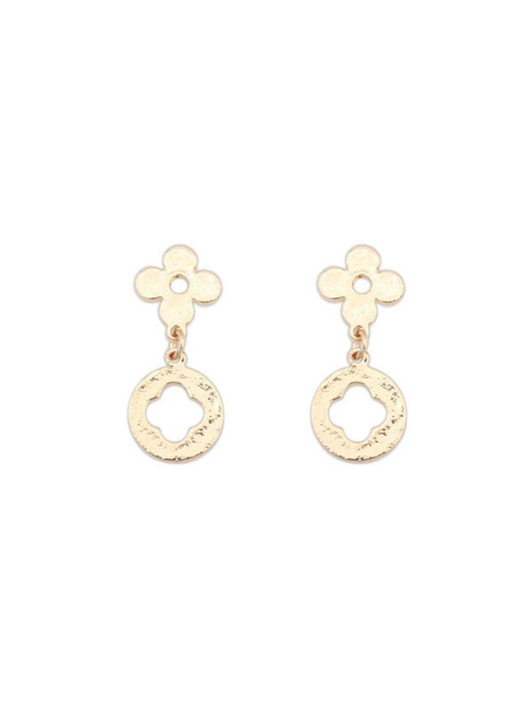 Occident Simple All-match Leaf clover Vente chaude Boucles d'oreilles