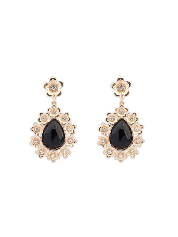 Occident All-match Floret Water Drop Temperament Vente chaude Boucles d'oreilles
